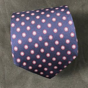 Yves Saint Laurent vintage tie navy and red